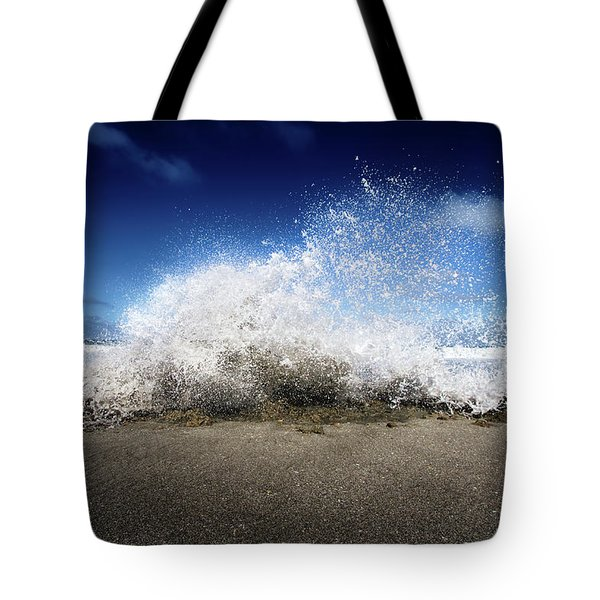 Exploding Seas Tote Bag by Mark Andrew Thomas