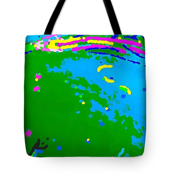 Tote Bag featuring the painting Exploration by Yshua The Painter