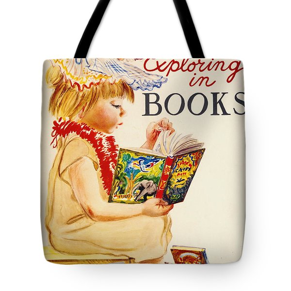 Tote Bag featuring the photograph Exploring Books 1961 by Padre Art