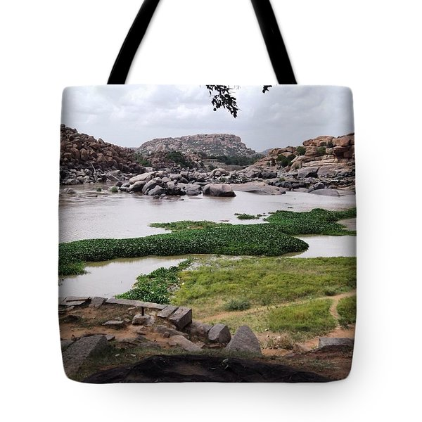 Hiking In Hampi Tote Bag