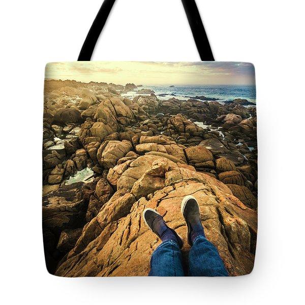 Exploring The Beaches Of Western Tasmania Tote Bag