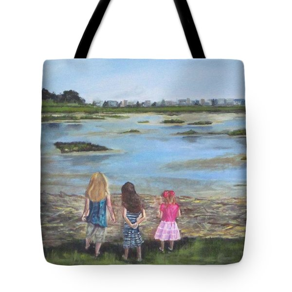 Exploring The Marshes Tote Bag
