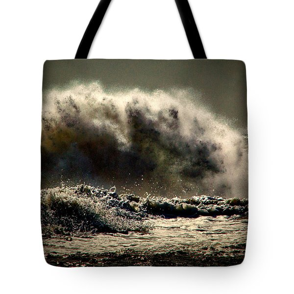 Explosion In The Ocean Tote Bag