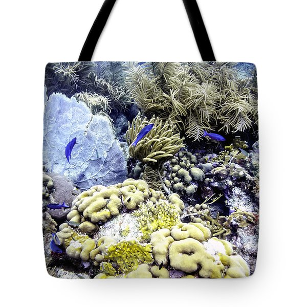 Tote Bag featuring the photograph Explosion Of Life I by Perla Copernik
