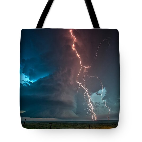 Explosion Of Light Tote Bag by James Menzies
