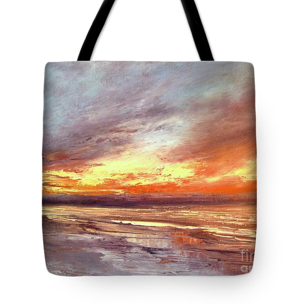 Explosion Of Light Tote Bag by Valerie Travers