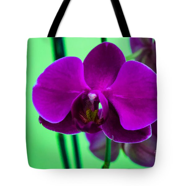 Exposed Orchid Tote Bag