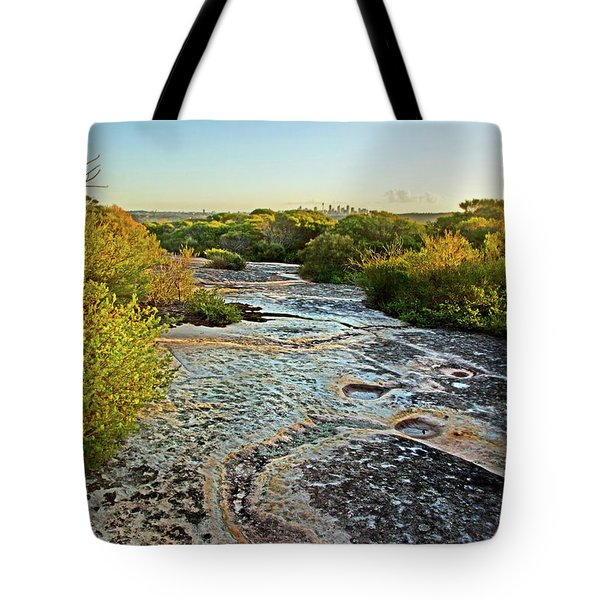 Tote Bag featuring the photograph Exposed Sandstone In North Head by Miroslava Jurcik