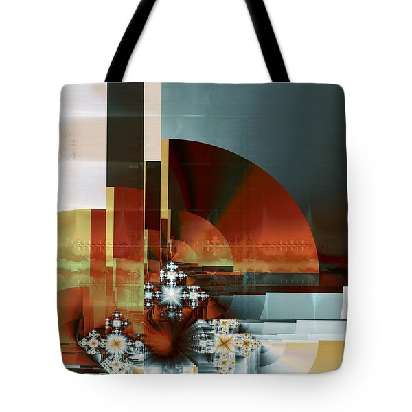 Tote Bag featuring the digital art Exposition Internationale Paris by Richard Ortolano