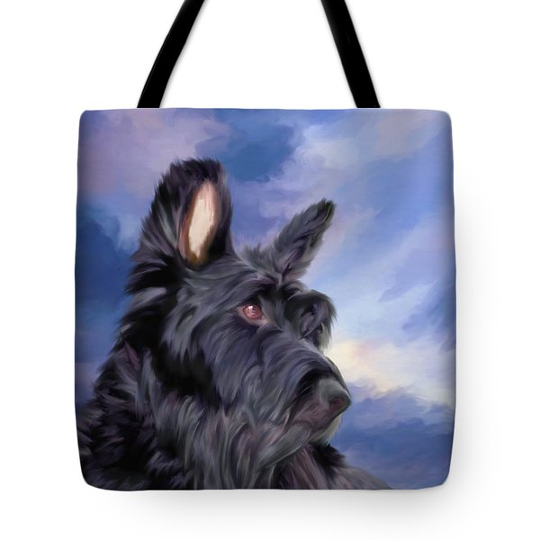 Expression Is Everything Scottish Terrier Dog Tote Bag