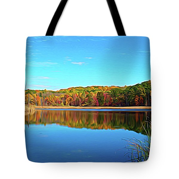 Tote Bag featuring the photograph Expressionalism Autumn Pond by Aimee L Maher Photography and Art Visit ALMGallerydotcom