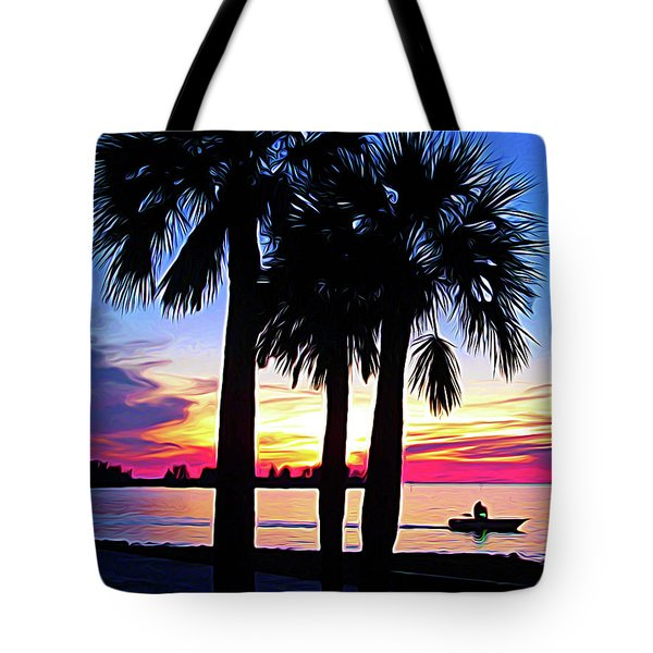 Tote Bag featuring the photograph Expressionalism Beach Sunset by Aimee L Maher Photography and Art Visit ALMGallerydotcom