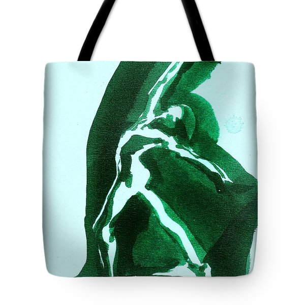Tote Bag featuring the drawing Expressions by Denise Fulmer