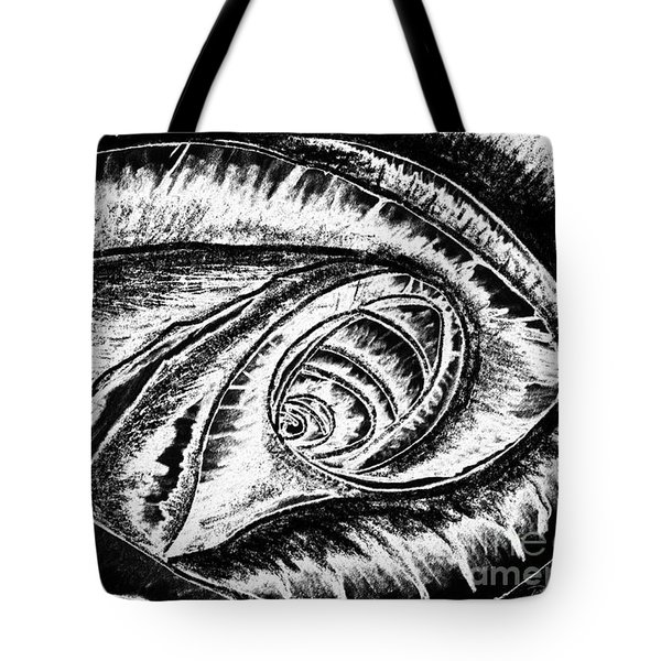 A0216a Expressive Abstract Black And White Tote Bag