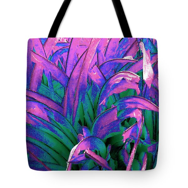 Tote Bag featuring the painting Expressive Abstract Grass Series A1 by Mas Art Studio