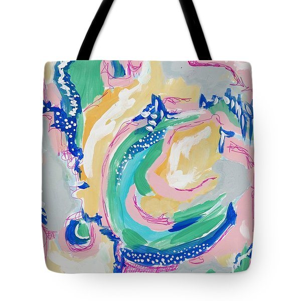 Expressive Abstract Pattern Tote Bag