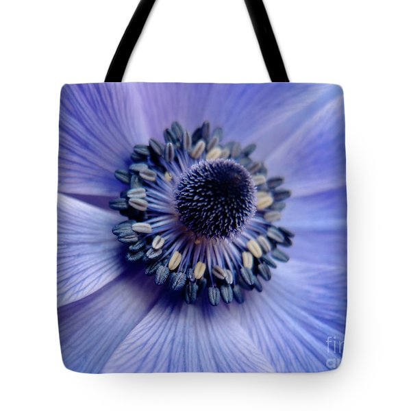 Expressive Blue And Purple Floral Macro Photo 706 Tote Bag