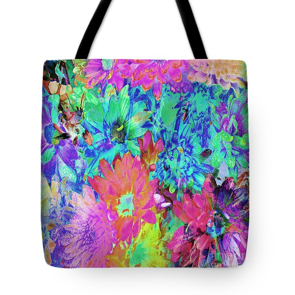 Tote Bag featuring the painting Expressive Digital Still Life Floral B721 by Mas Art Studio
