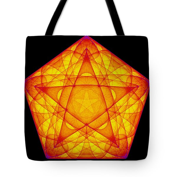 Tote Bag featuring the digital art Exprograce by Andrew Kotlinski