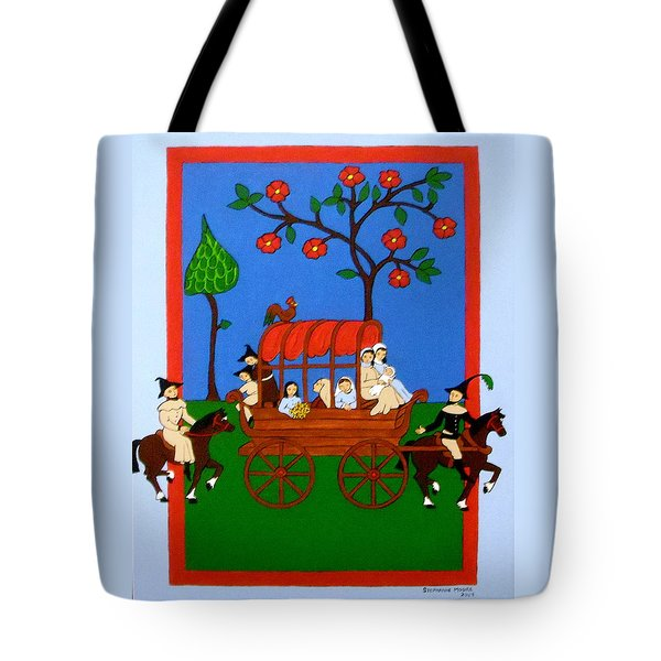Tote Bag featuring the painting Expulsion Of The Jews For M Spain by Stephanie Moore