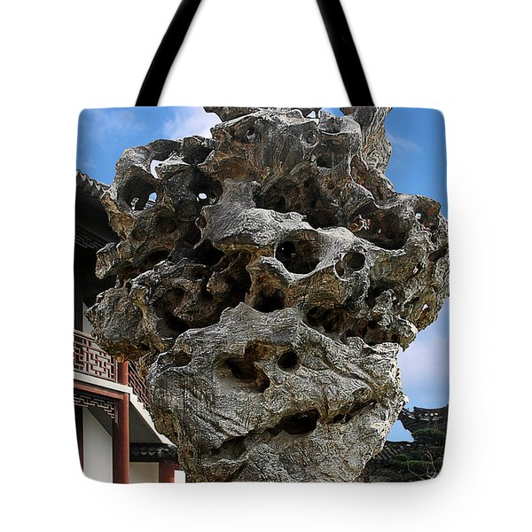 Exquisite Jade Rock - Yu Garden - Shanghai Tote Bag by Christine Till