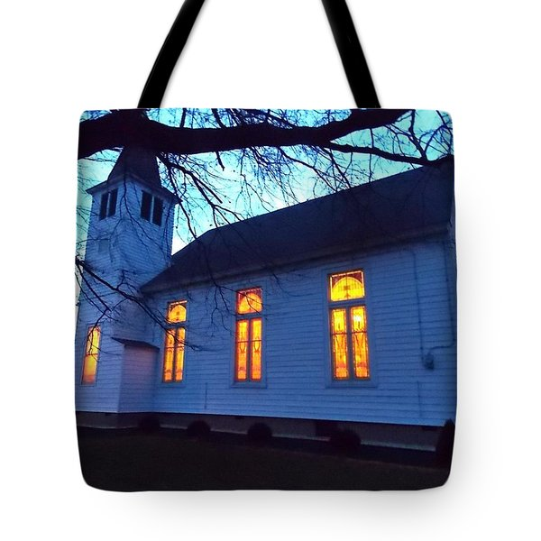 Exterior Church Evening Tote Bag