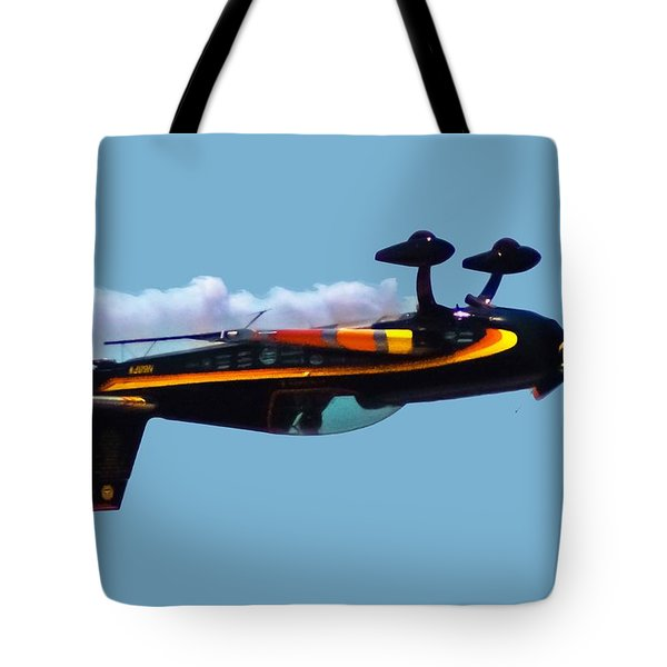 Extra 300s Stunt Plane Tote Bag by DigiArt Diaries by Vicky B Fuller
