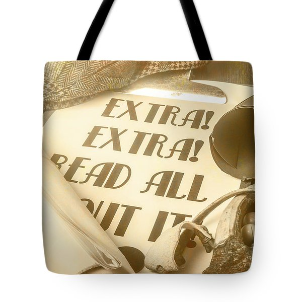 Extra Extra Read All About It Tote Bag