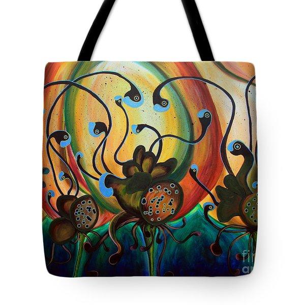 Extraterrestrial Flora Tote Bag