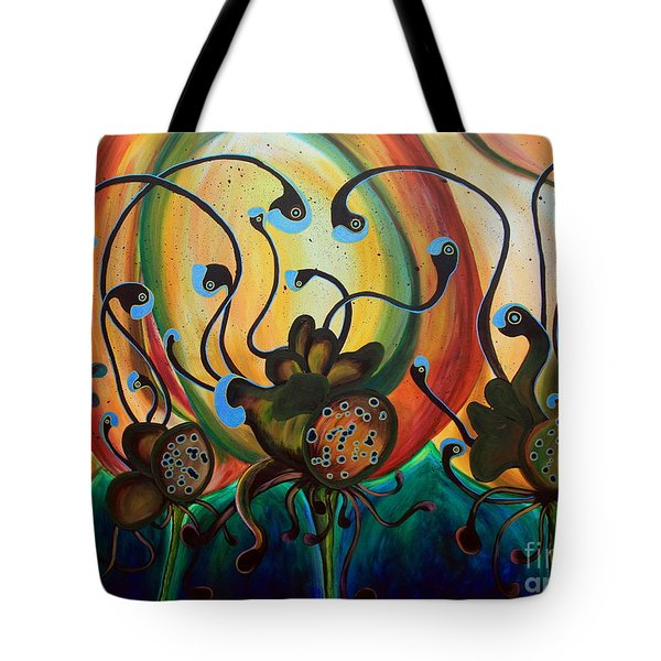 Extraterrestrial Flora Tote Bag