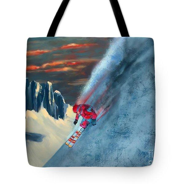 Extreme Ski Painting  Tote Bag