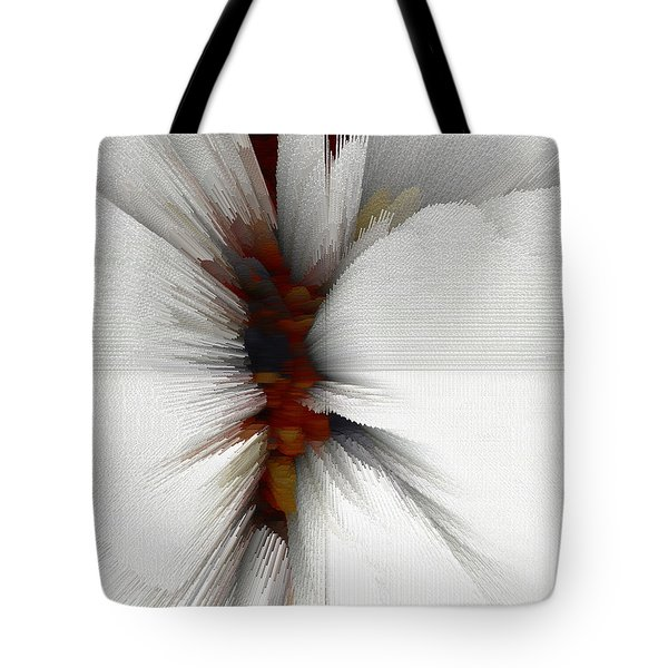 Tote Bag featuring the digital art Sculptural Series Painting 51.072110windblscext1590l10110l by Kris Haas