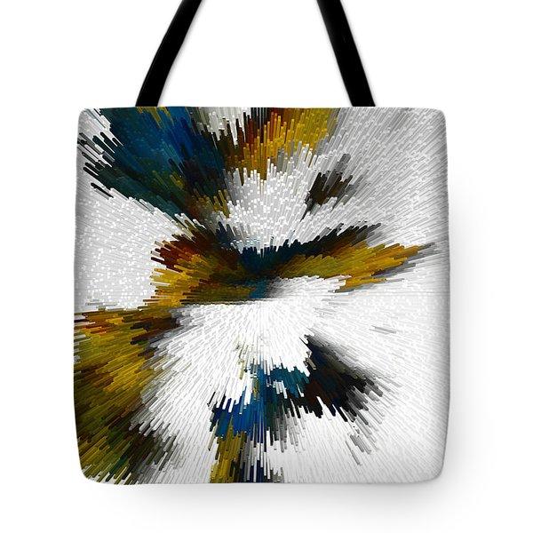Tote Bag featuring the digital art Sculptural Series Digital Painting 612.102310extrusion by Kris Haas