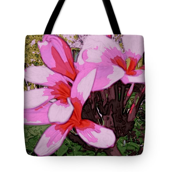 Tote Bag featuring the digital art Exuberance by Winsome Gunning