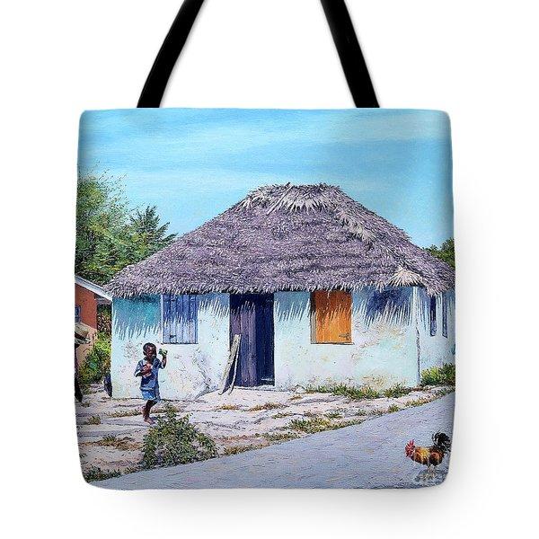 Exuma Thatch Hut Tote Bag