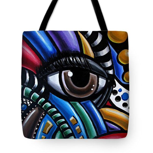 Eye Abstract Art Painting - Intuitive Chromatic Art - Pineal Gland Third Eye Artwork Tote Bag