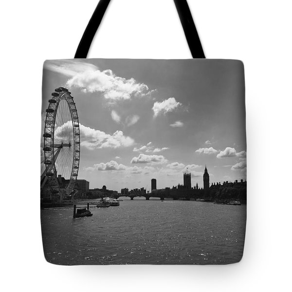 Eye And Parliament Tote Bag