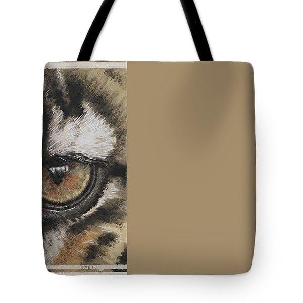 Clouded Leopard Gaze Tote Bag