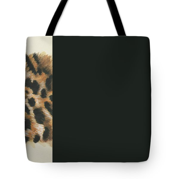 Tote Bag featuring the painting Eye-catching Jaguar by Barbara Keith