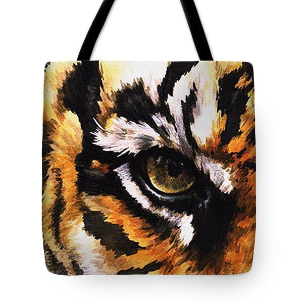 Eye-catching Sumatran Tiger Tote Bag by Barbara Keith