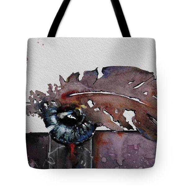 Eye Feather Tote Bag by Geni Gorani