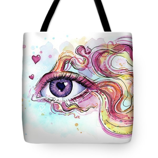 Eye Fish Surreal Betta Tote Bag by Olga Shvartsur