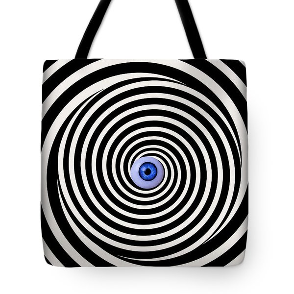 Eye In Spiral Tote Bag
