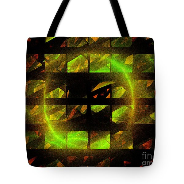 Tote Bag featuring the digital art Eye In The Window by Victoria Harrington