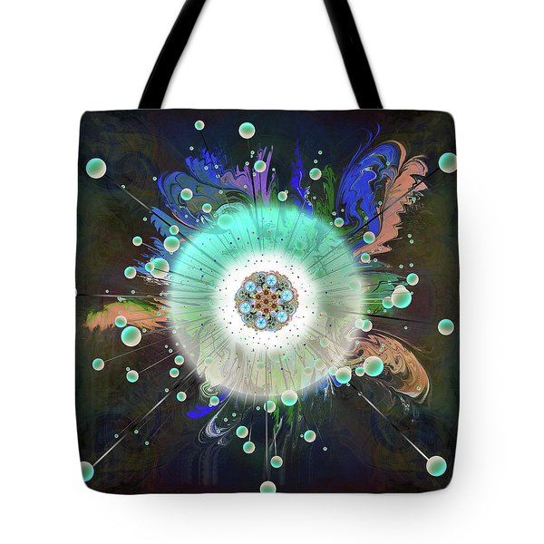 Tote Bag featuring the digital art Eye Know Dark Two by Iowan Stone-Flowers