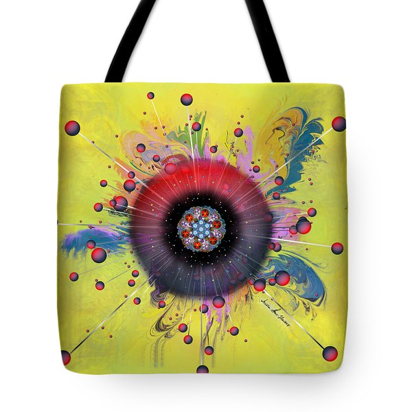 Tote Bag featuring the digital art Eye Know Light by Iowan Stone-Flowers