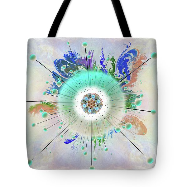 Tote Bag featuring the digital art Eye Know Light Two by Iowan Stone-Flowers