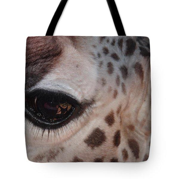 Eye Of A Giraffe Tote Bag