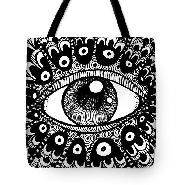 Eye Of March Tote Bag by Nada Meeks