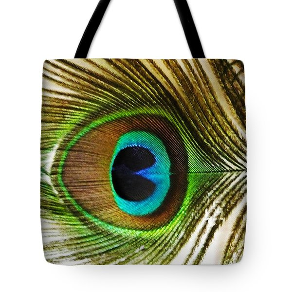 Eye Of Peacock Tote Bag